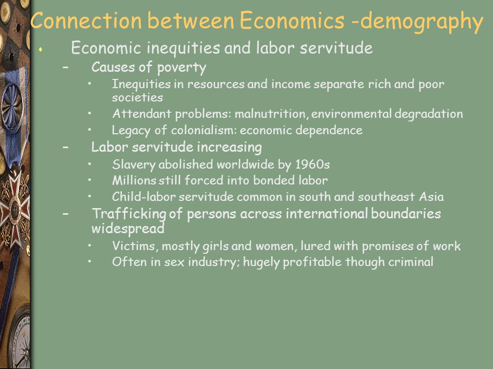 Connection between Economics -demography