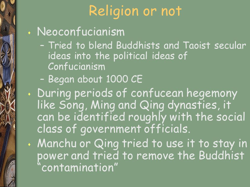 Religion or not Neoconfucianism