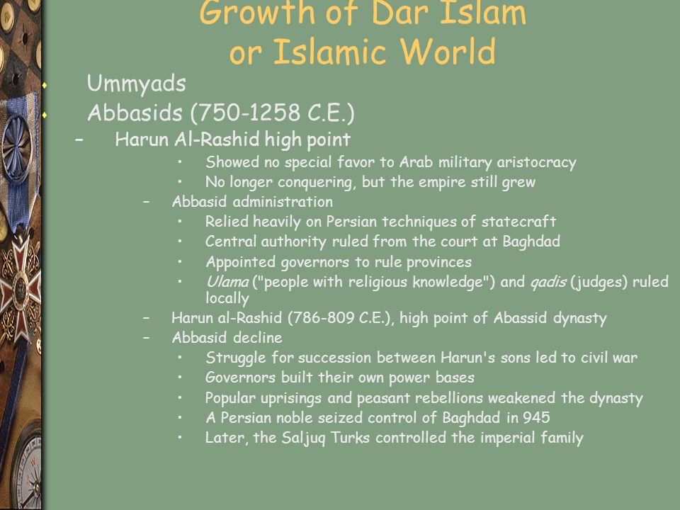 Growth of Dar Islam or Islamic World