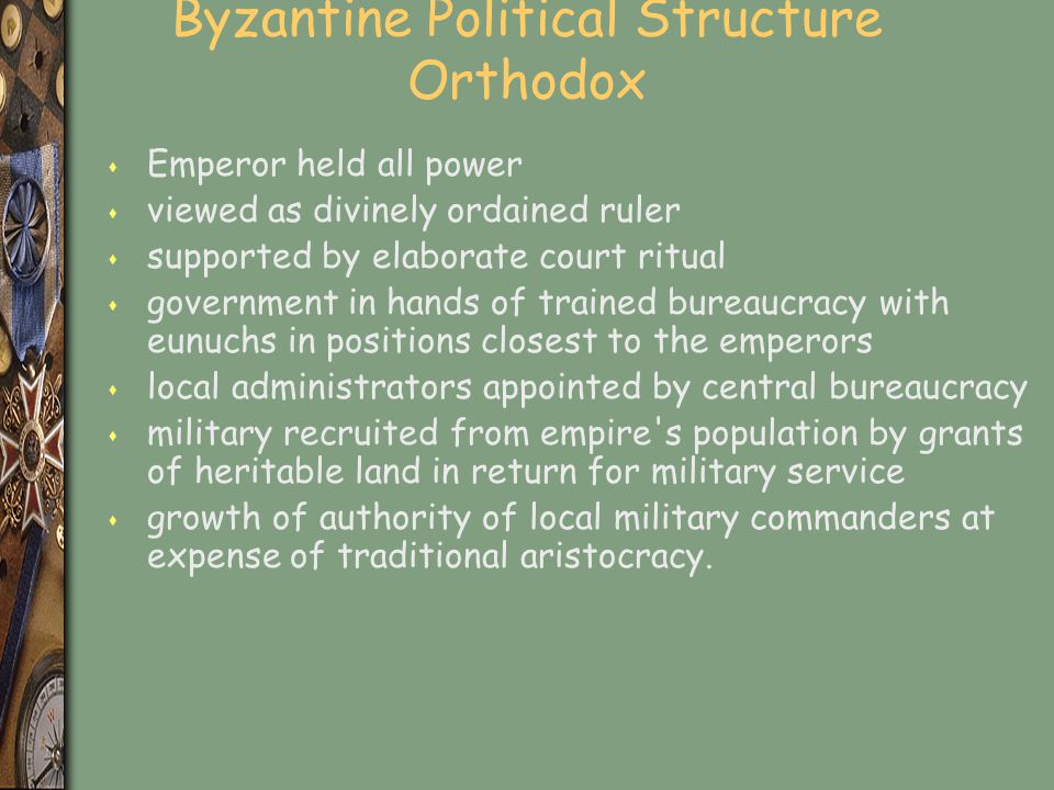 Byzantine Political Structure Orthodox