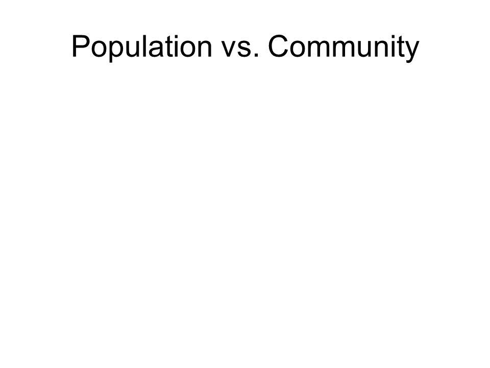 Population vs. Community