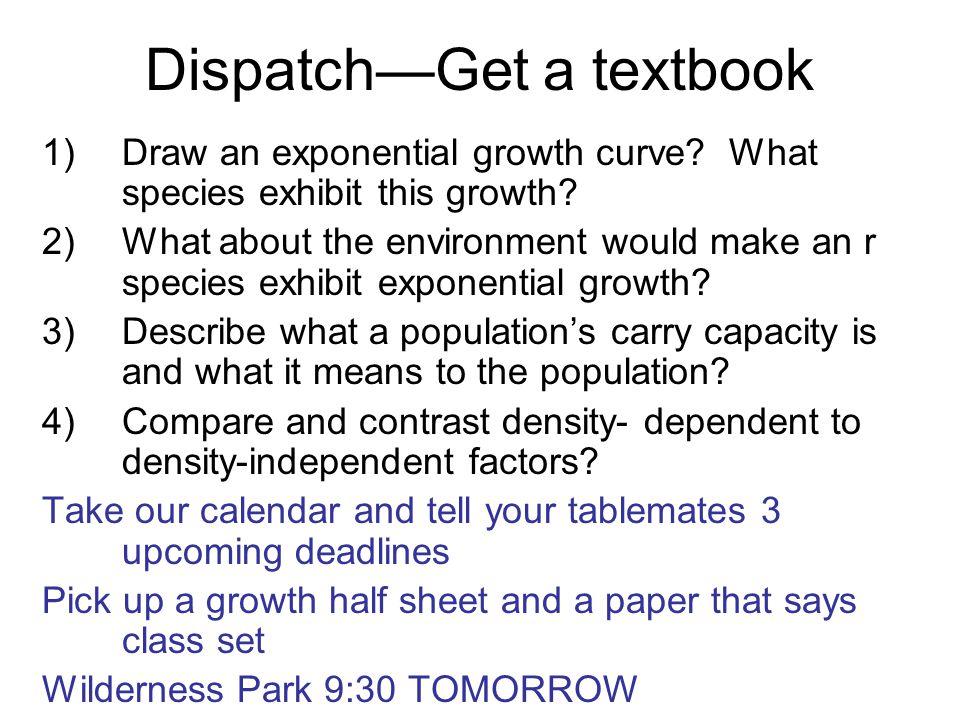 Dispatch—Get a textbook