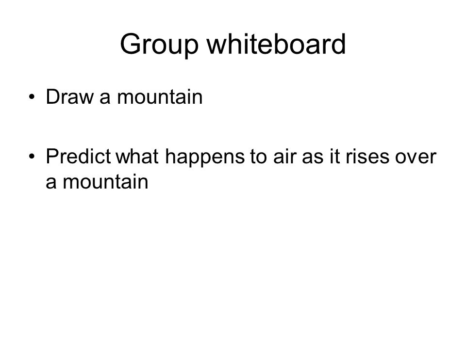 Group whiteboard Draw a mountain