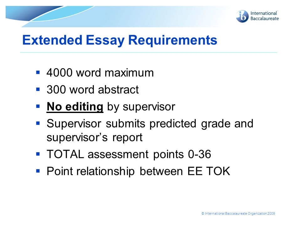 Ib Extended Essay Word Count Quotes
