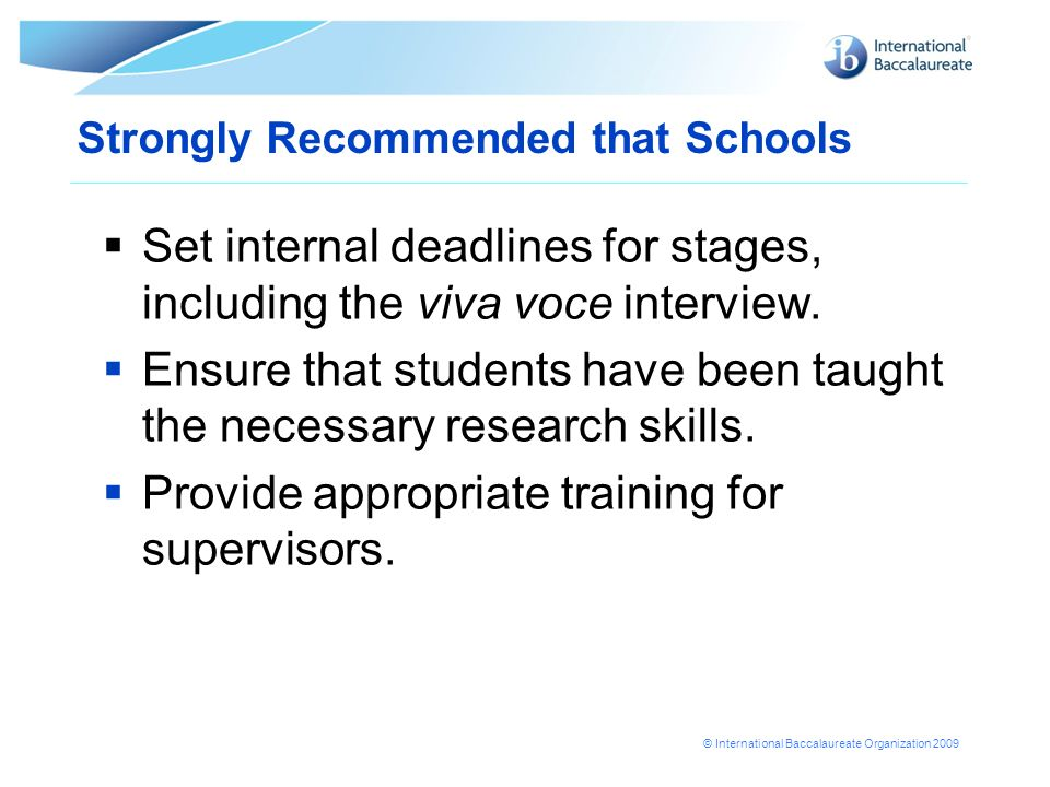 Strongly Recommended that Schools