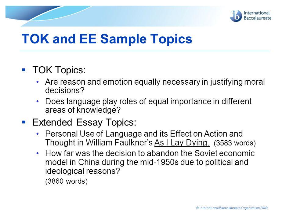 economics extended essay topics ib