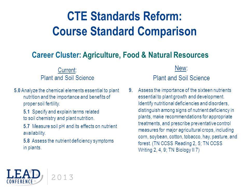 CTE Standards Reform: Course Standard Comparison