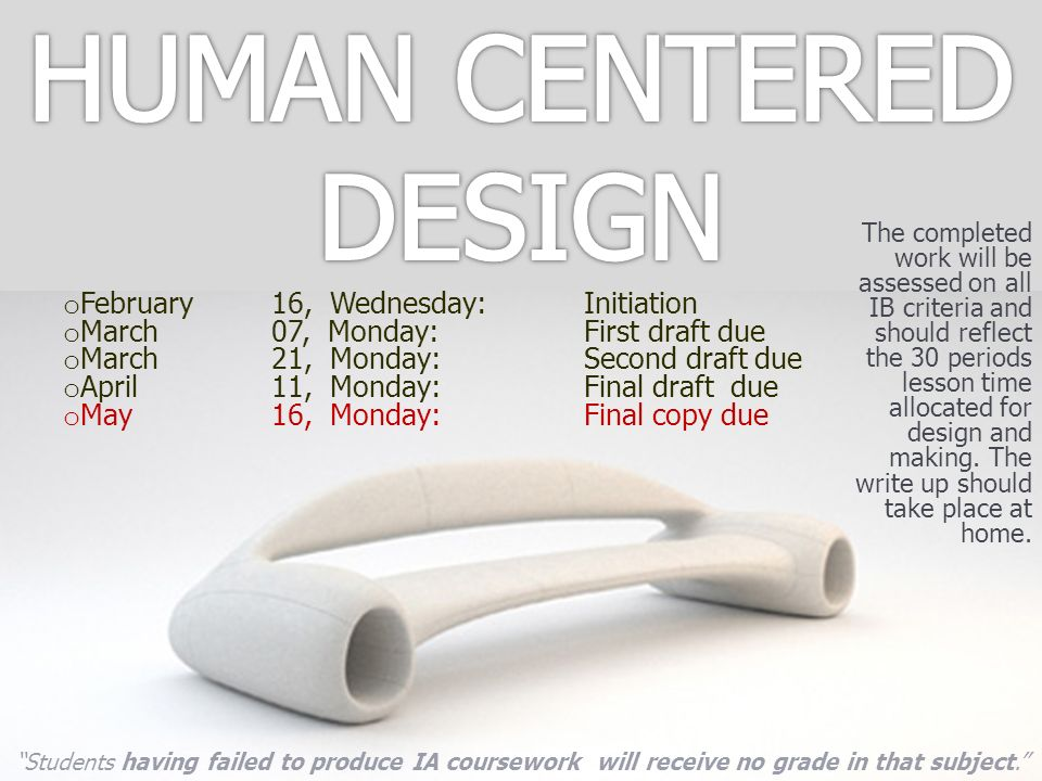 HUMAN CENTERED DESIGN February 16, Wednesday: Initiation