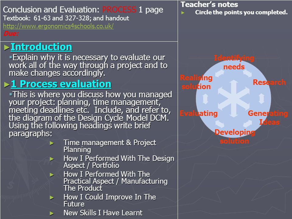 Introduction 1 Process evaluation