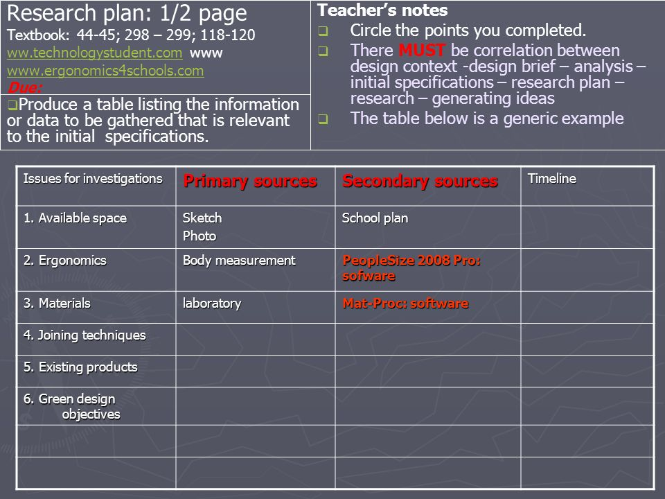 Research plan: 1/2 page Textbook: 44-45; 298 – 299; ww