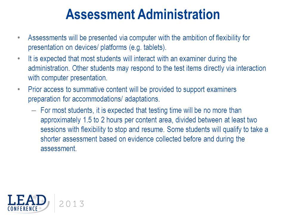 Assessment Administration