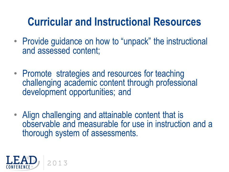 Curricular and Instructional Resources