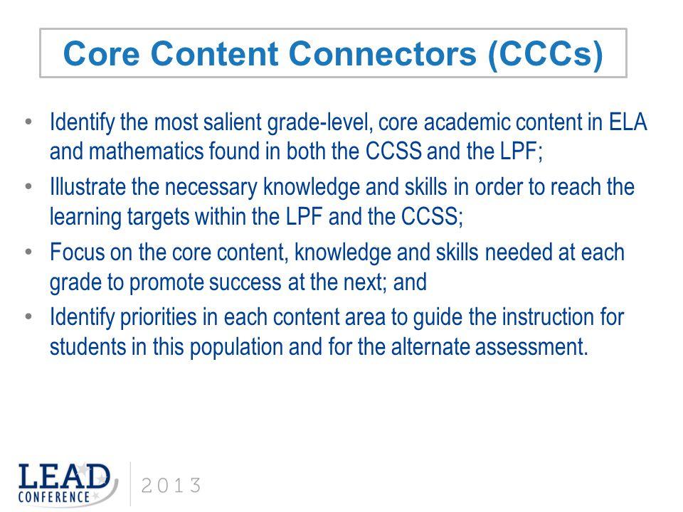 Core Content Connectors (CCCs)