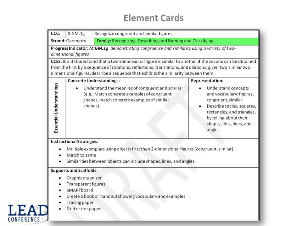 Element Cards