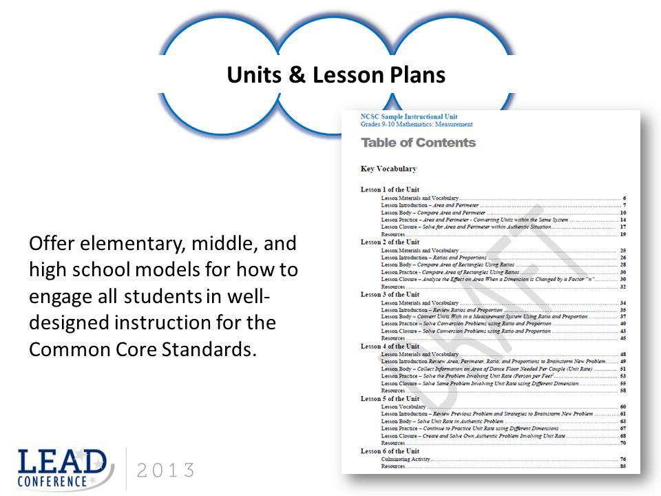 Units & Lesson Plans