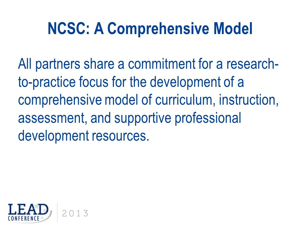 NCSC: A Comprehensive Model