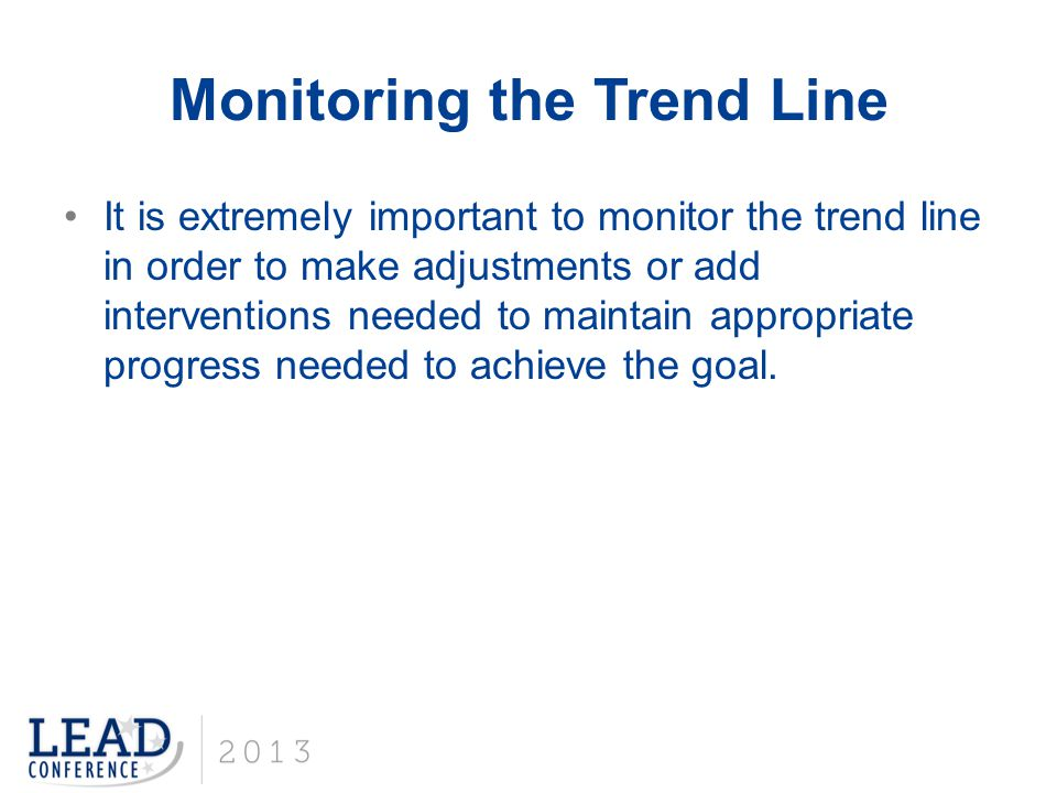 Monitoring the Trend Line