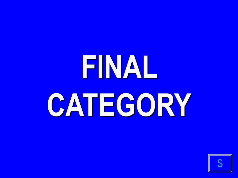 FINAL CATEGORY $