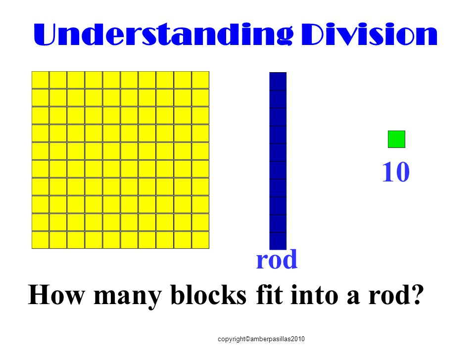How many blocks fit into a rod