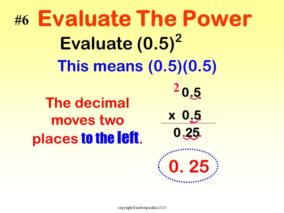 The decimal moves two places to the left.
