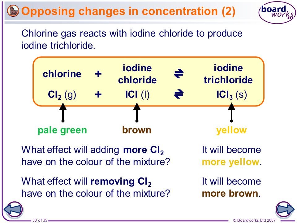 Opposing changes in concentration (2)
