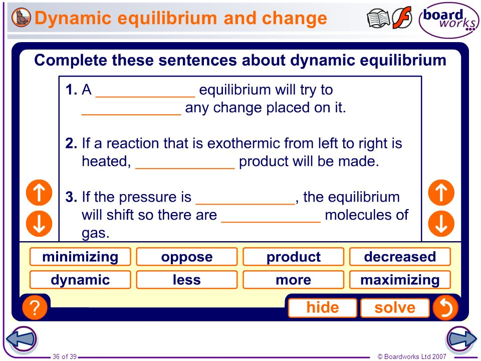 Dynamic equilibrium and change