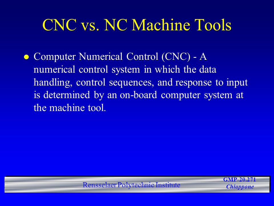 CNC vs. NC Machine Tools