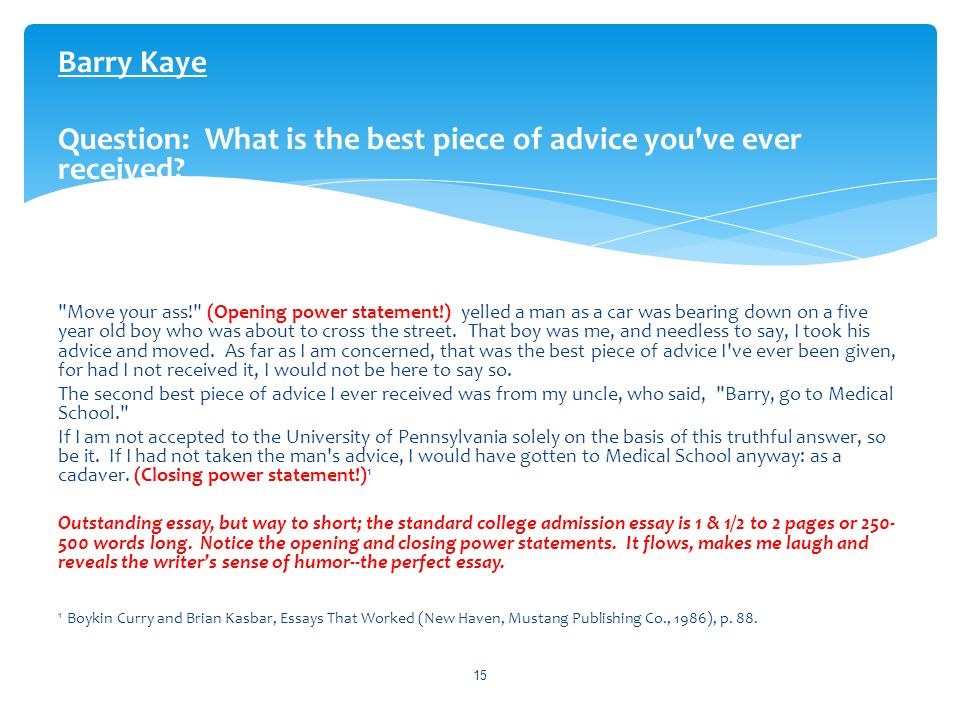 best advice ever received essay help