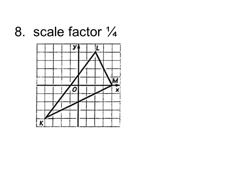 8. scale factor ¼
