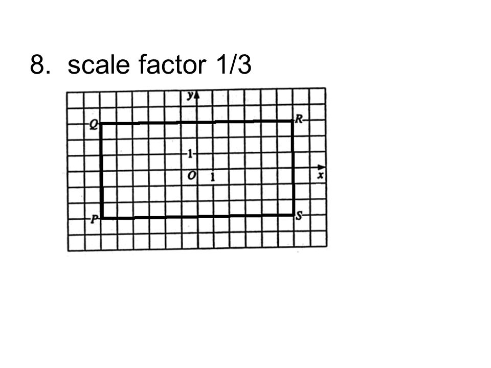 8. scale factor 1/3