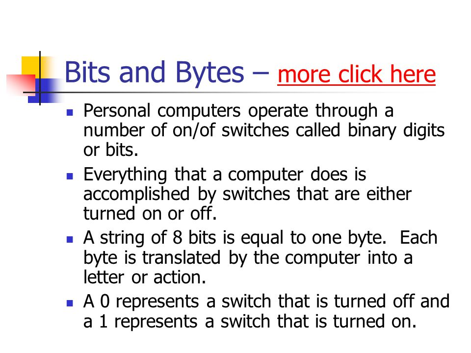 Bits and Bytes – more click here