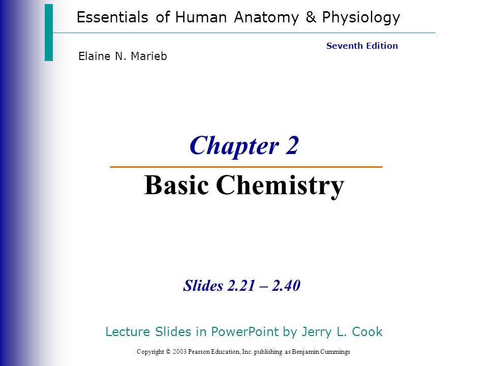 Chapter 2 Basic Chemistry