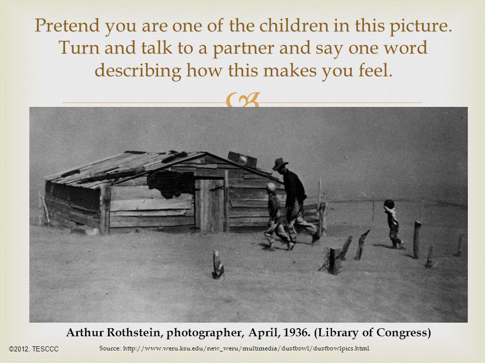 Arthur Rothstein, photographer, April, 1936. (Library of Congress)