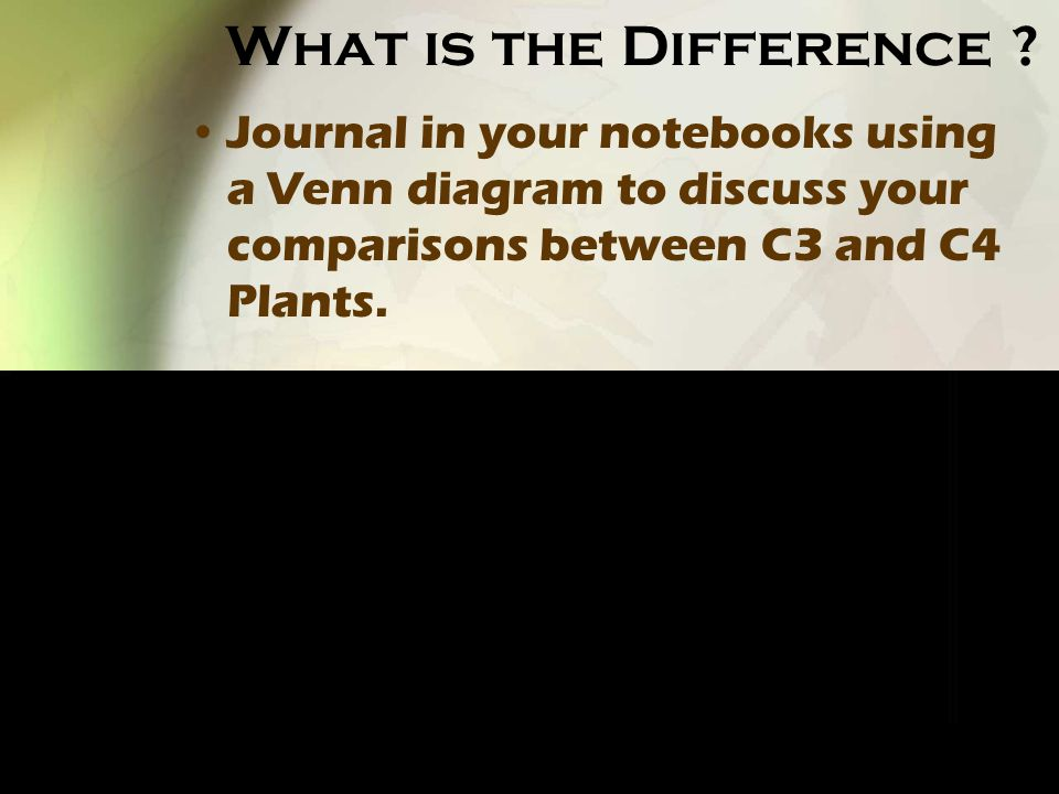 What is the Difference .