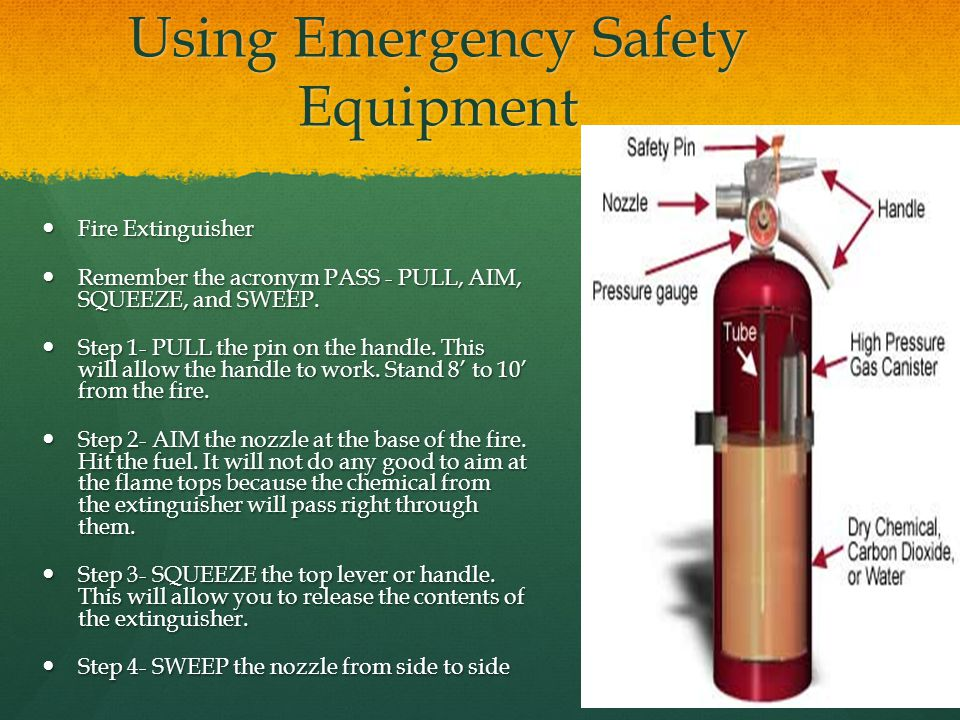 Using Emergency Safety Equipment