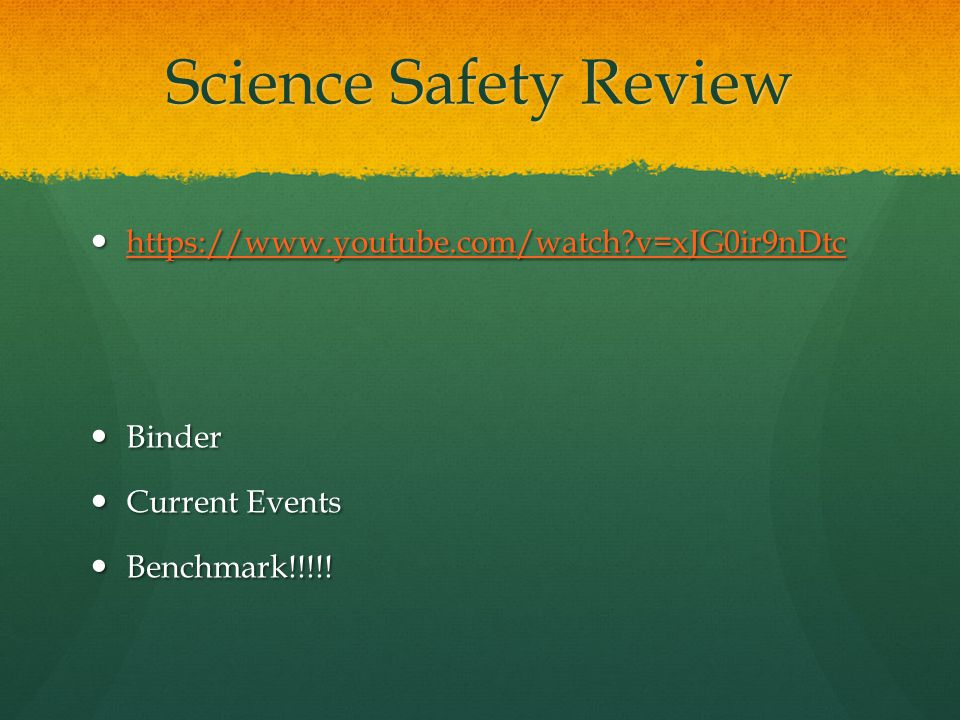 Science Safety Review https://www.youtube.com/watch v=xJG0ir9nDtc