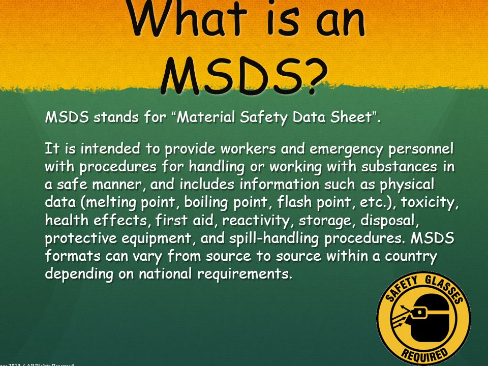 What is an MSDS