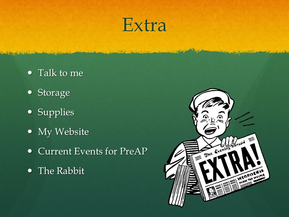 Extra Talk to me Storage Supplies My Website Current Events for PreAP