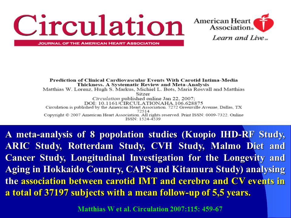 Matthias W et al. Circulation 2007:115: 459-67