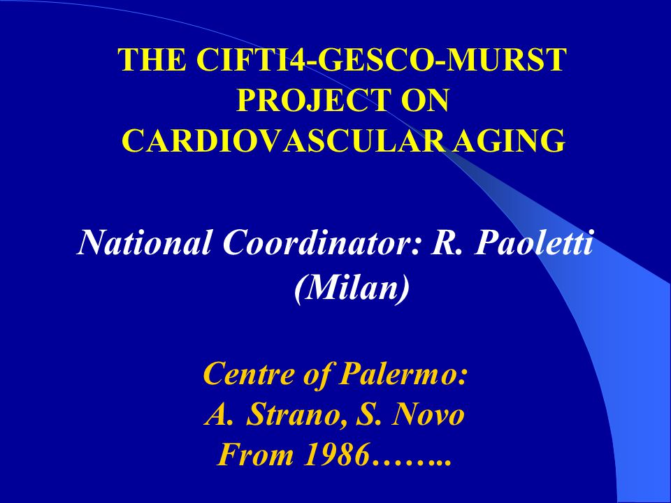National Coordinator: R. Paoletti (Milan)