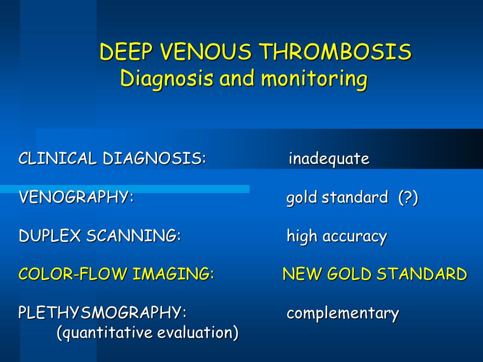 Diagnosis and monitoring
