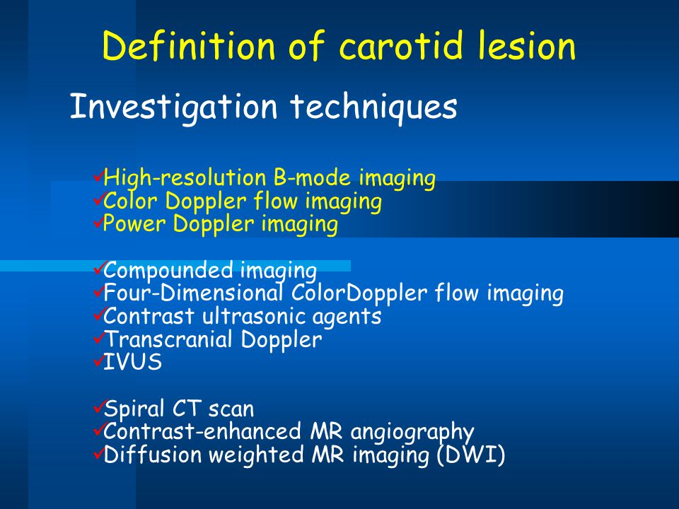 Definition of carotid lesion