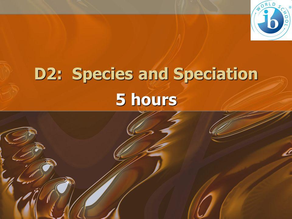 D2: Species and Speciation
