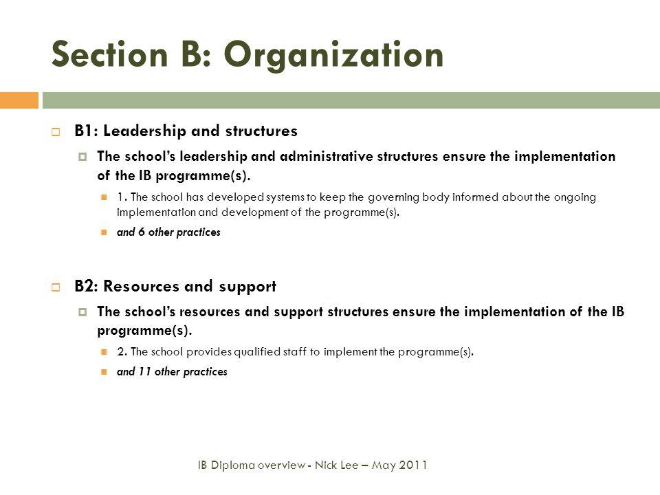 Section B: Organization