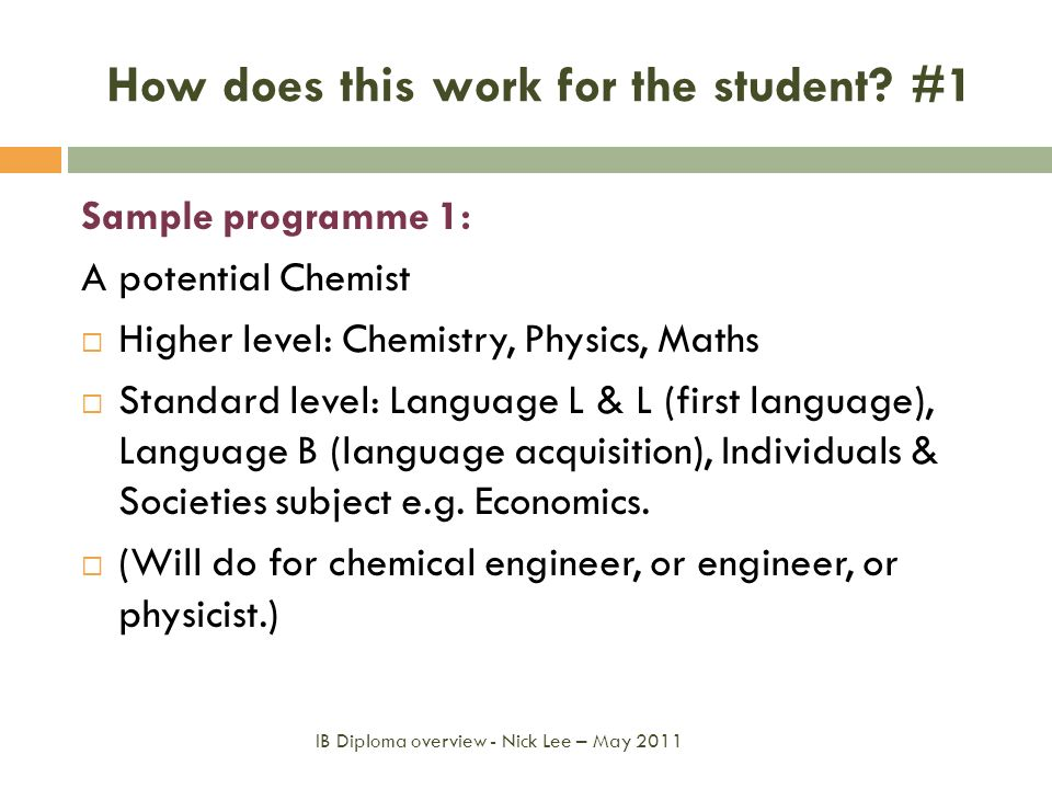How does this work for the student #1