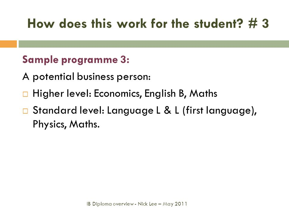 How does this work for the student # 3