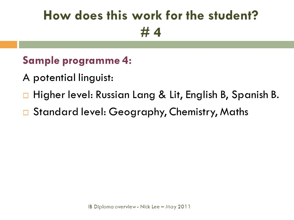 How does this work for the student # 4