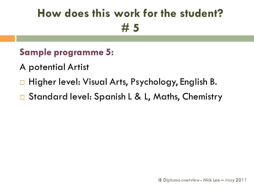 How does this work for the student # 5