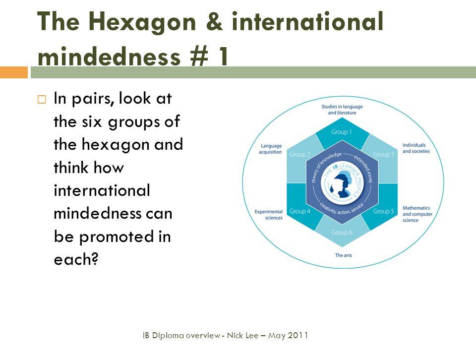 The Hexagon & international mindedness # 1