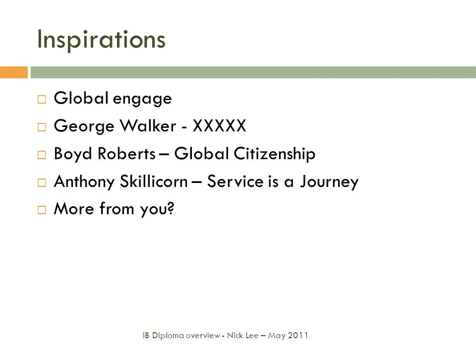 Inspirations Global engage George Walker - XXXXX